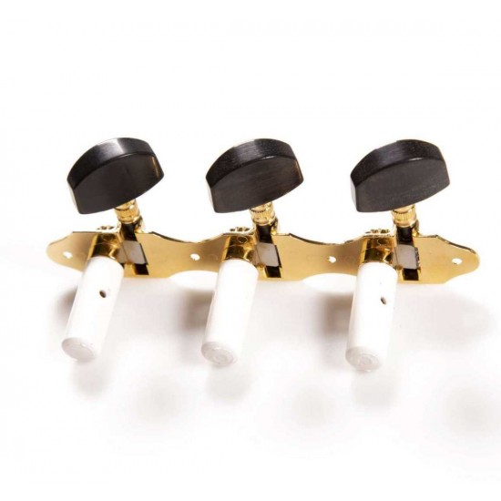 New Gear Day Schaller Germany Classical Guitar Hauser Tuners 3X3 Gold With Ebony Buttons