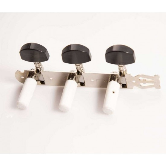 Schaller Germany Classical Guitar Lyra Tuners 3X3 Nickel With Ebony Buttons