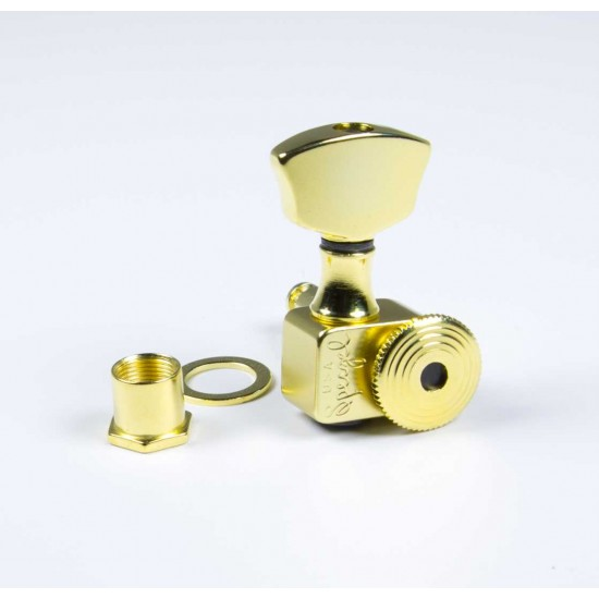Sperzel Trim-Lok Ez-Mount 3X3 Gold Plated Locking Tuners - No Drilling!