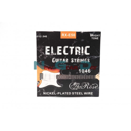 The Rose RX-E50- Electric Guitar Strings Nickel Plated Steel 10 to 46 - 2 sets