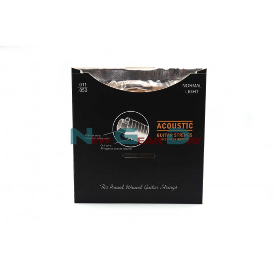 The Rose RX-A50- Acoustic Guitar Strings Phosphor Bronze Steel 11 to 50 - 3 sets