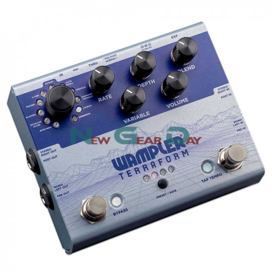 New Gear Day Wampler Terraform True Stereo Modulation Multi-Effects Guitar Effects Pedal